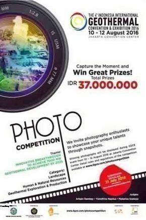 Lomba Photo 4th Indonesia Internasial Geothermal