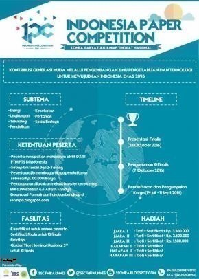 Indonesia Paper Competition (IPC) SSC FMIPA Unnes